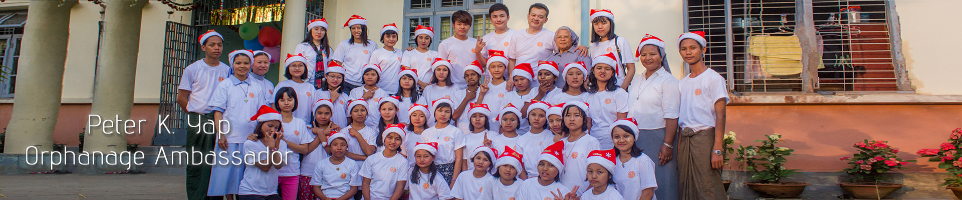Orphanage ambassador team, whom are lending their hands to needy children leading by Mr. K. Yap